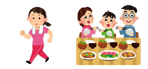 ストレスとうまく付き合うためにも、適度な運動や栄養バランスを考えた食事・家族との時間を大切にしましょう。